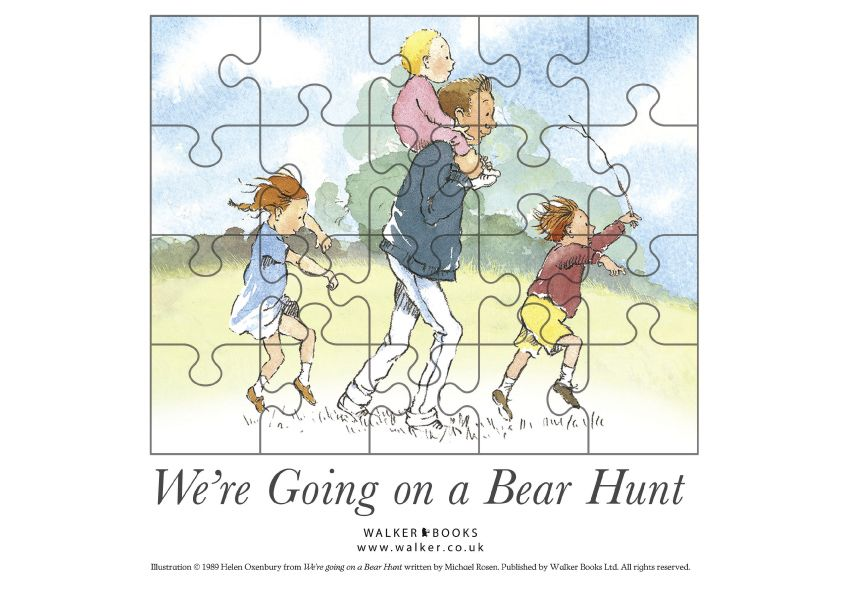 Printable jigsaw puzzle use with We 39 re Going on a Bear