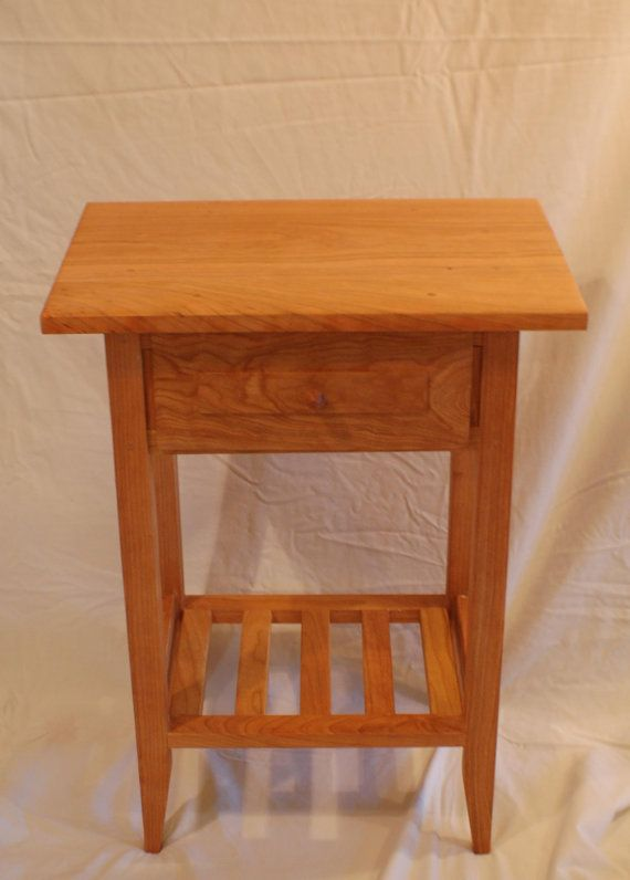 This Is A Cherry Nightstand That Measures 24 Inches Tall By 12 Inches Thick  By 18 Inches Wide, With An Eight Inch Drawer .It Is Made With High