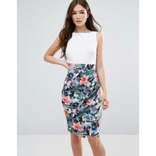 Closet Multi Floral Drape Skirt Dress - Multi Closet pFglyZ