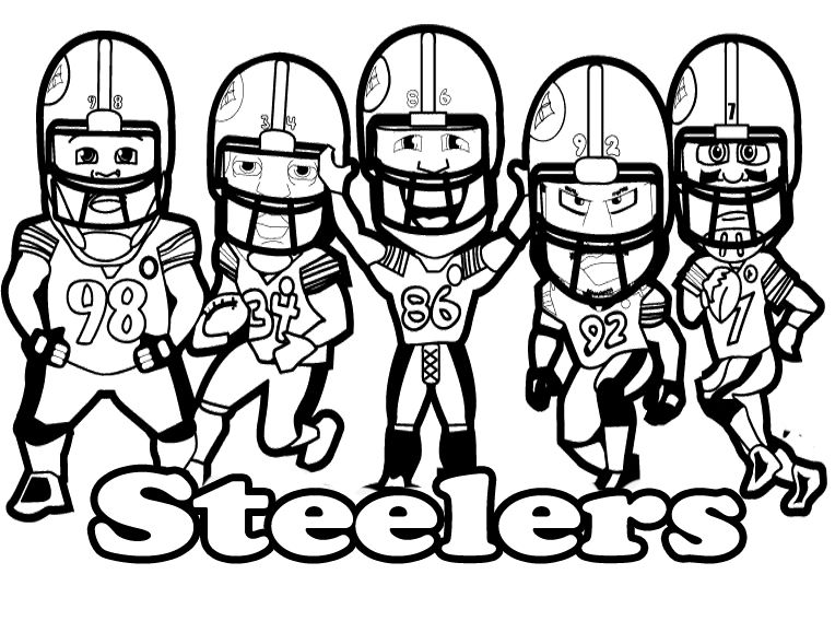 pittsburgh steelersprintable football steelers coloring for kids - Steelers Coloring Pages