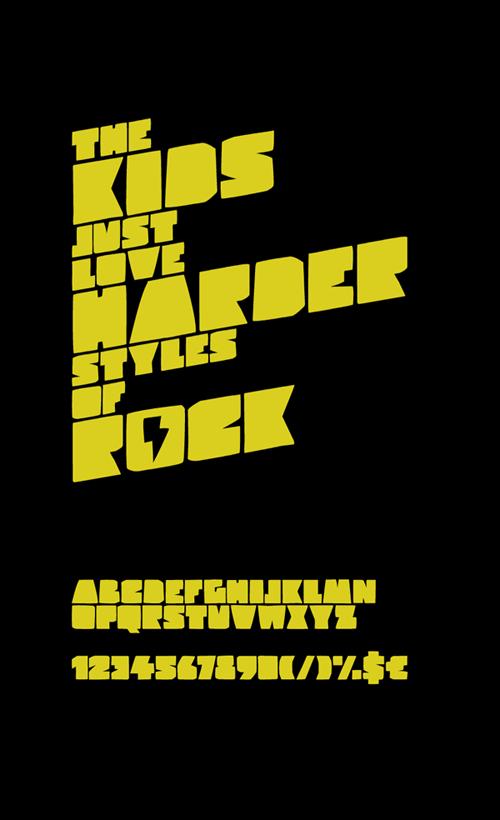 Hard Rock Kids Font | dafont.com | Kid fonts, Hard rock, Rock
