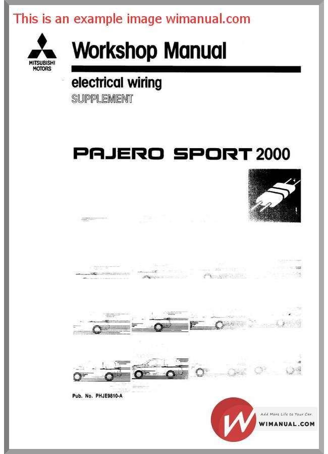 mitsubishi pajero sport 2000 electrical wiring is the perfect rh pinterest com 2000 Mitsubishi Montero Sport Brown Montero Sport Online