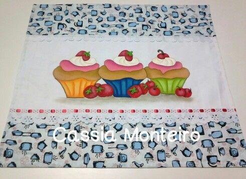 Toalha cupcakes.
