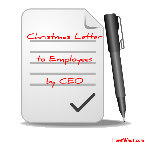 Example Of Writing Christmas Letter To Employees By Ceo