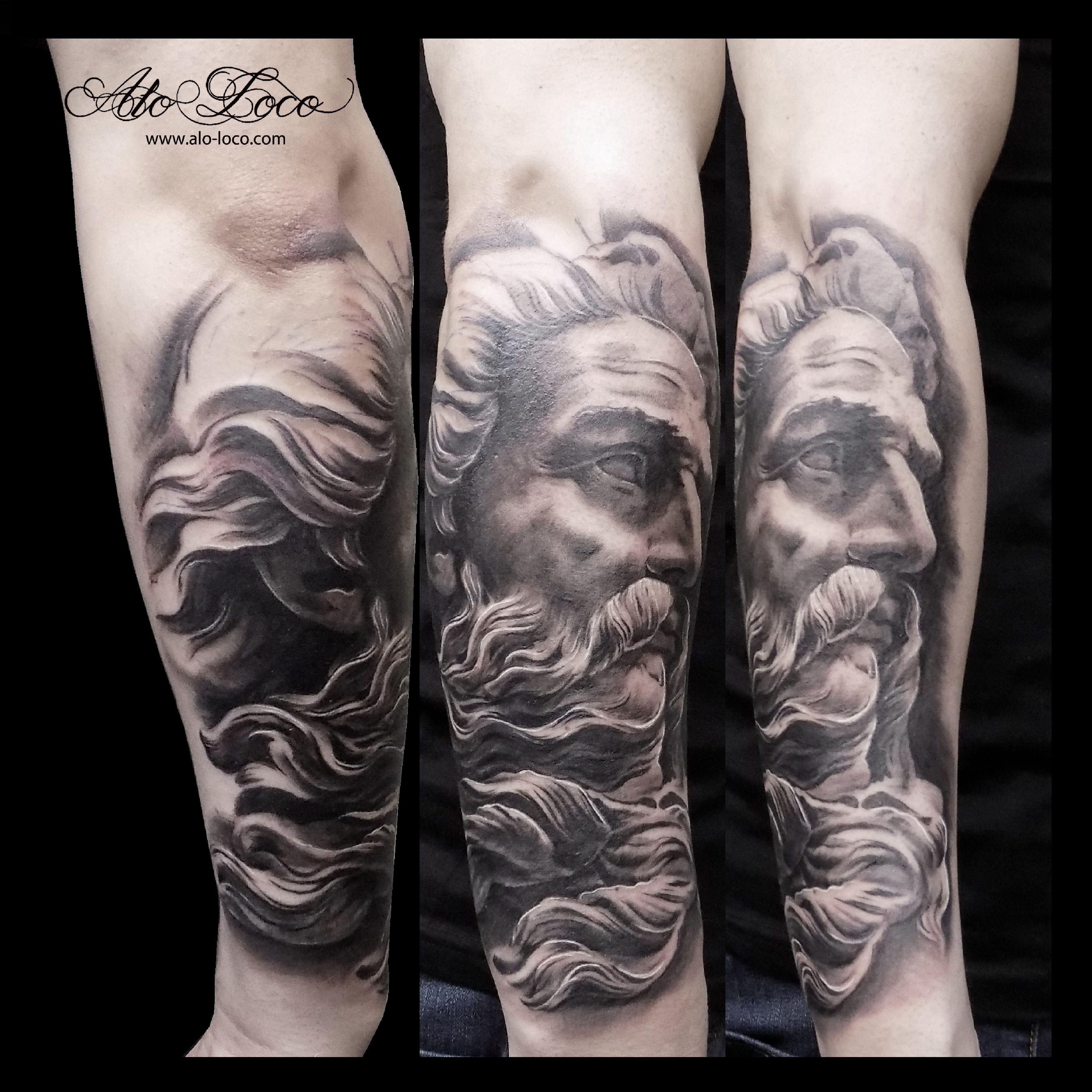 Poseidon Tattoo Mythology Tattoos Greek Tattoos Tattoo Artists
