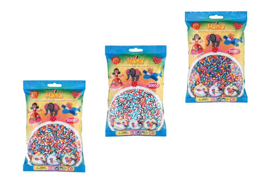 3000 Hama MIDI Bügelperlen 201-90 / 201-91 / 201-92 Sonderfarben 5mm Ø Streifen   Spielzeug, Basteln & Kreativität, Creativsets   eBay!