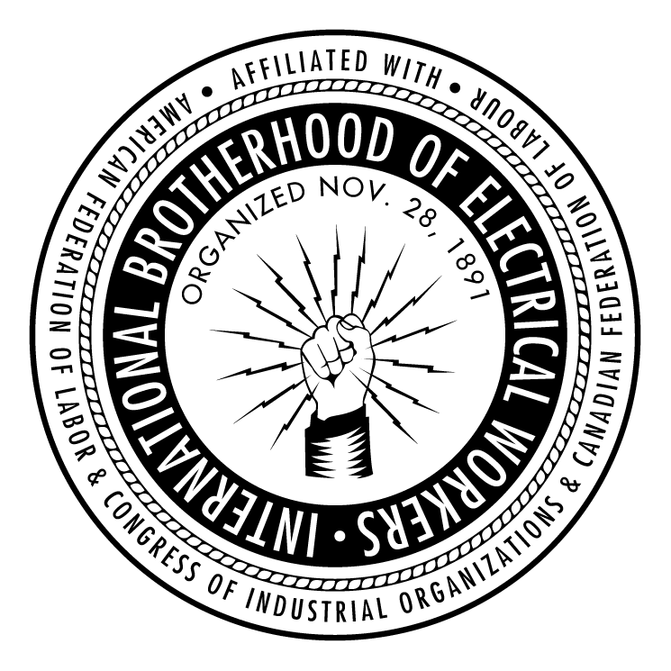 International Brotherhood Of Electrical Workers Logo Google Search Union Logo Electrical Workers Electricity Logo