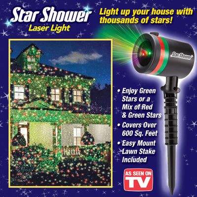 Star Shower Laser Christmas Light From Collections Etc Star Shower Laser Light Laser Christmas Lights Star Shower