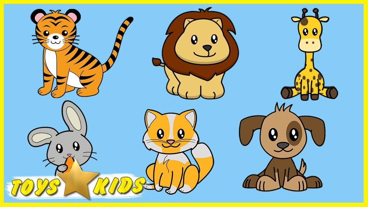 Learn Wild Animals Name Puzzle Animals Video for Kids