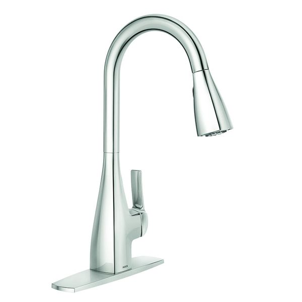 Moen Kiran Chrome One Handle Pull Down Kitchen Faucet