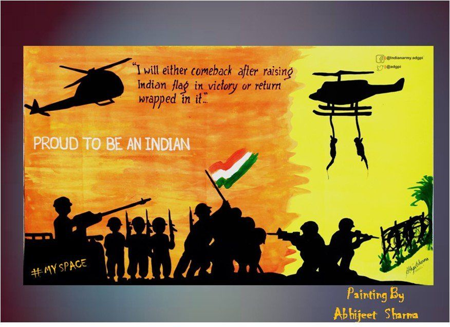 Adg Pi Indian Army On Army Drawing Drawing Competition Army Day