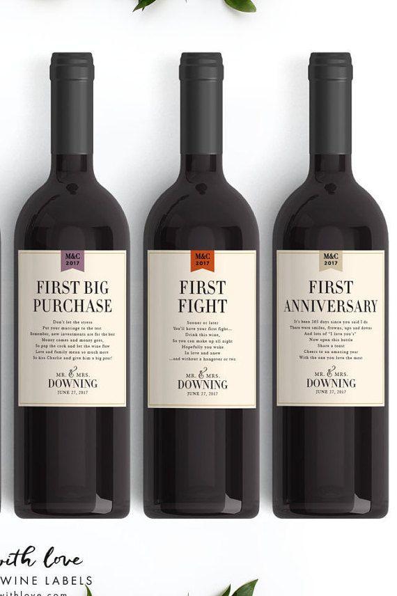 Milestone Wedding Gift Wine Labels Fall