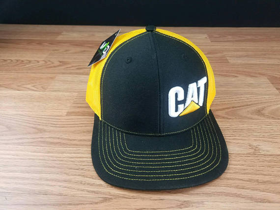 731bb908e CAT, CAT construction hat, cat cap, vintage caterpillar ...