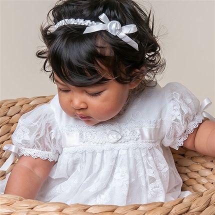 Louisa White Headband ★ Baby Beau & Belle