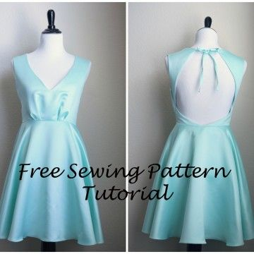 Sewing Pattern Tutorial for a Backless Dress: Part 3 | Wedding ...