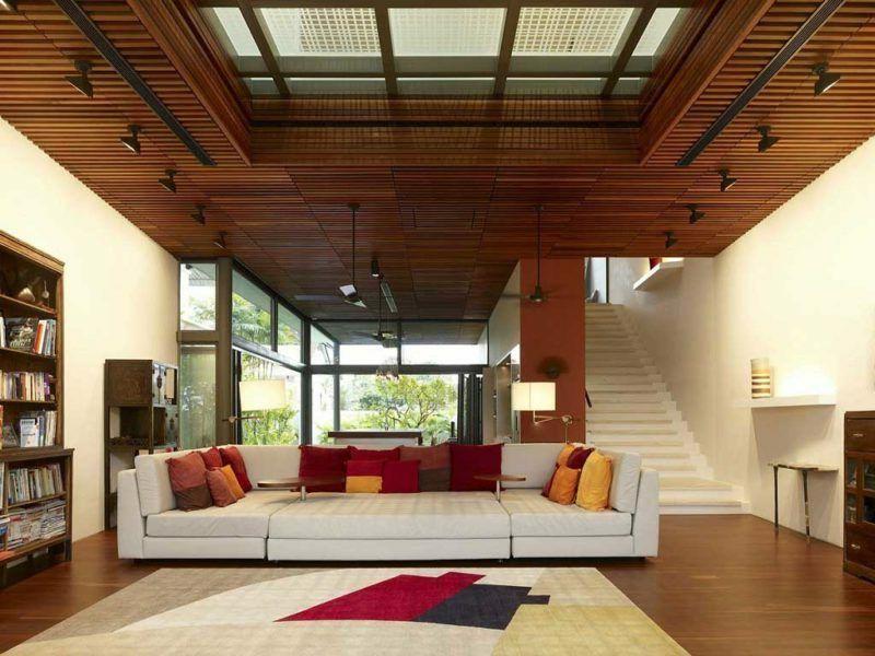 Deckengestaltung Wohnzimmer ~ Die holzdecke die perfekte deckengestaltung architektur