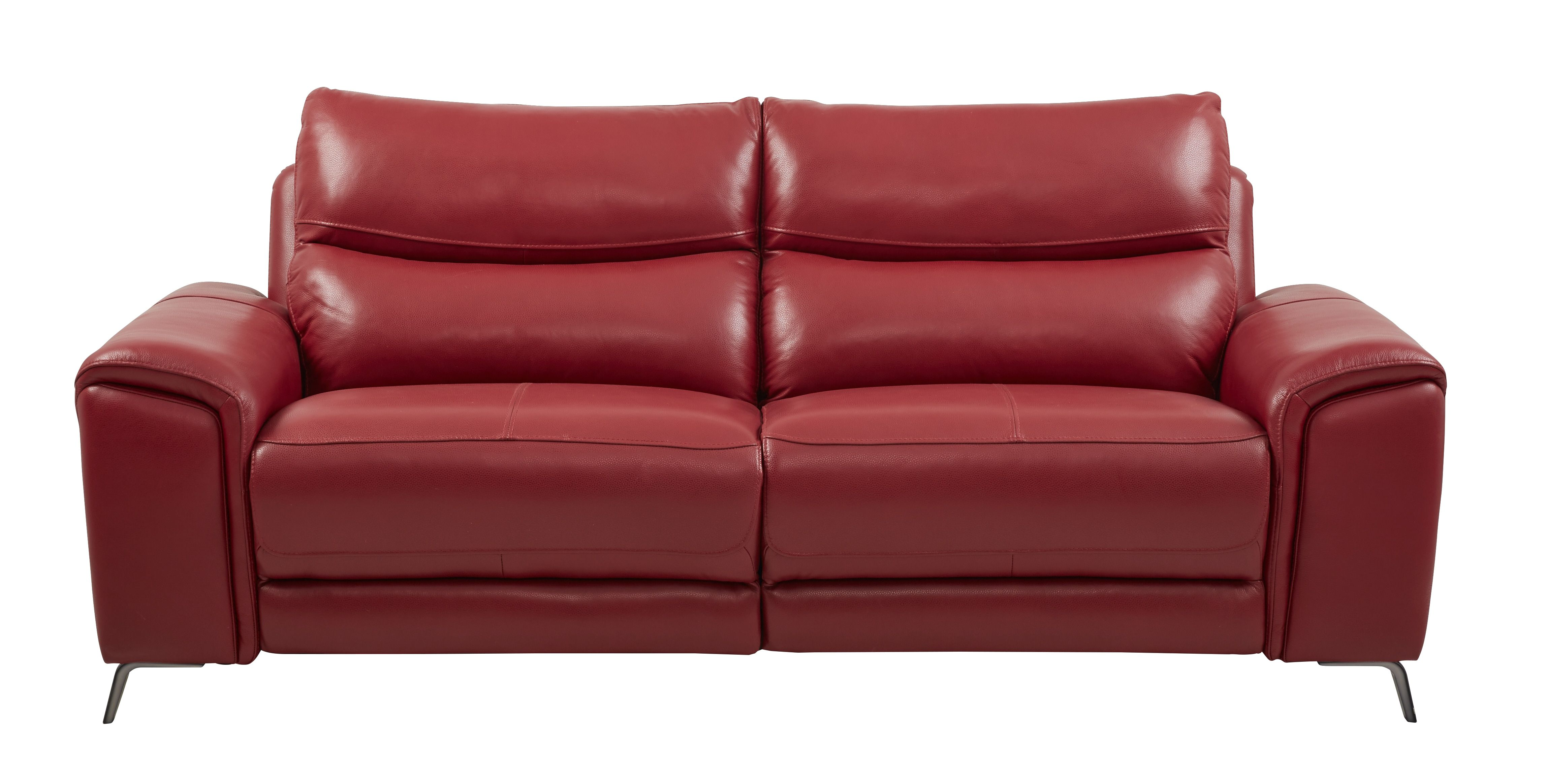 Astoria Heights Red Leather Power Reclining Sofa | reclining ...