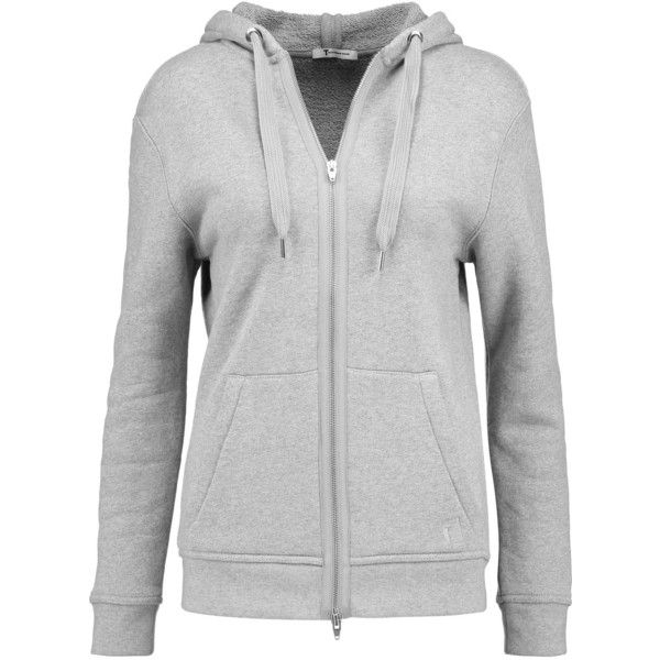 1f346ceb98e5 T by Alexander Wang - Cotton-terry Hooded Top ( 139) ❤ liked on ...