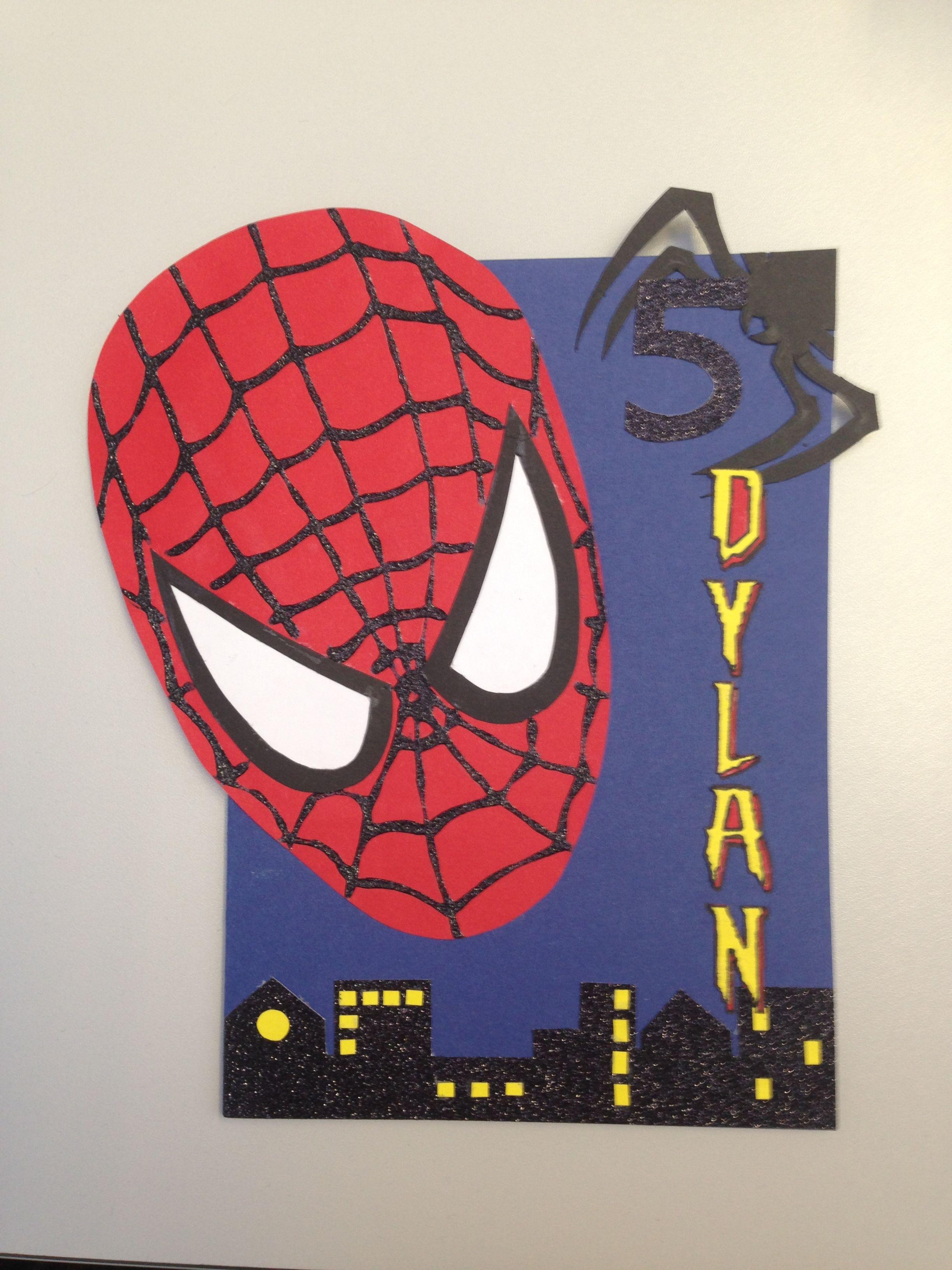 Pin By Serena Joseph On Children S Birthday Cards Special Birthday Cards Spiderman Cards Cricut Birthday Cards
