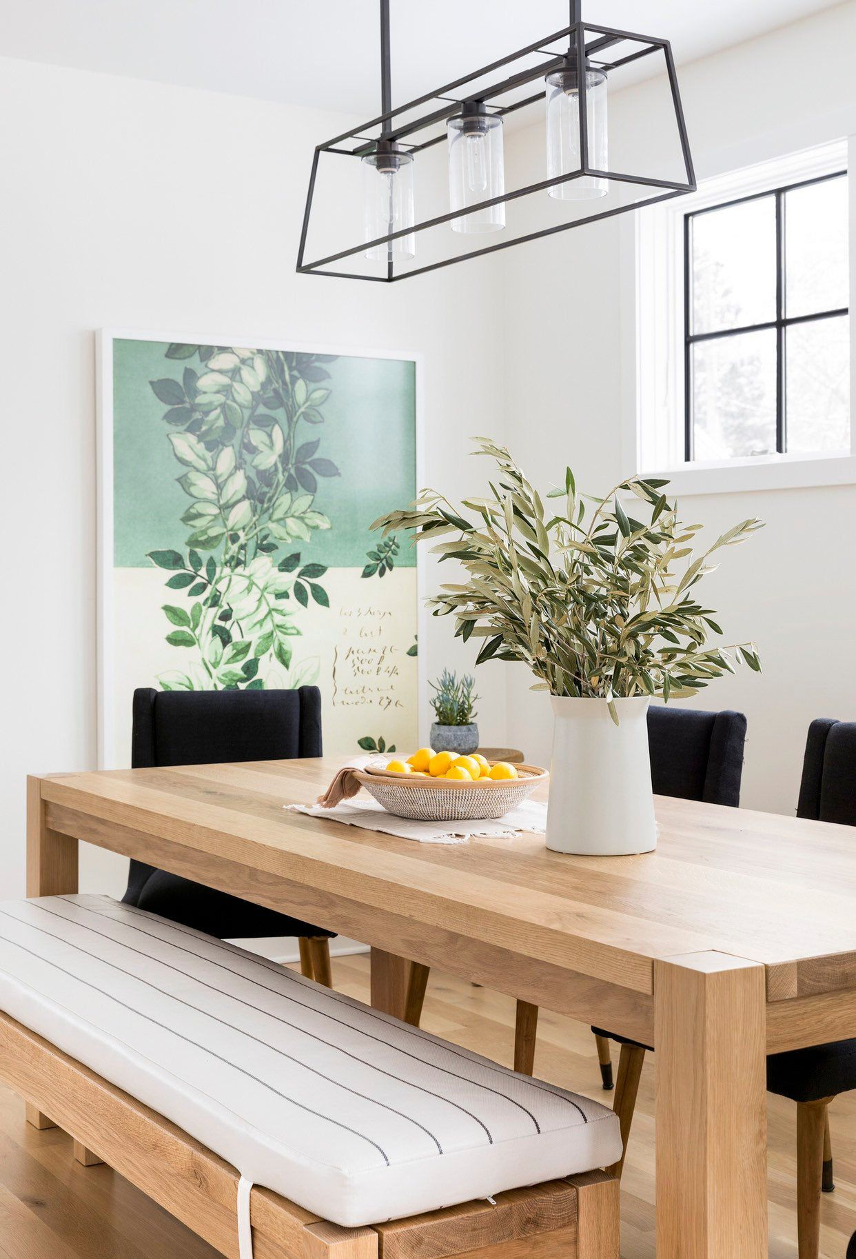 Parsons Dining Table White Oak Etsy Dining Table Design