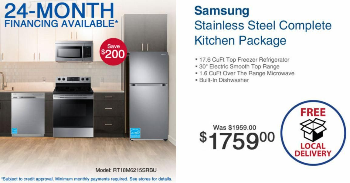 Complete Kitchen Packages On Sale Appliance Sale Weekend Financing