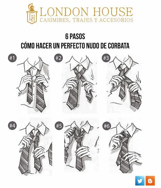 6 pasos de c u00f3mo hacer un buen nudo de corbata  porque