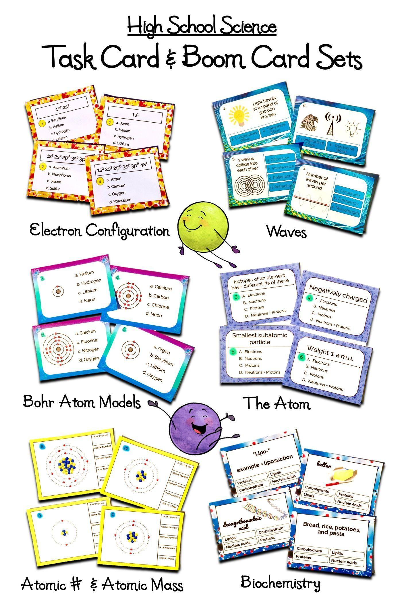High School Science Task Card \u0026 Online Boom Card Activity Sets   Biology  worksheet [ 2100 x 1400 Pixel ]