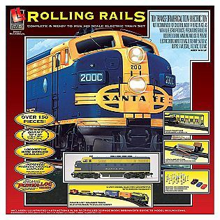 Lifelike Trains -HO Scale Train Set - Rolling Rails Diesel Freight with Carry Handle