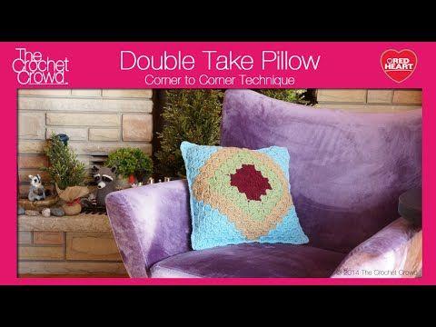 Crochet Bernat Blanket Snowflake Pillow Tutorial - YouTube | Pillows ...