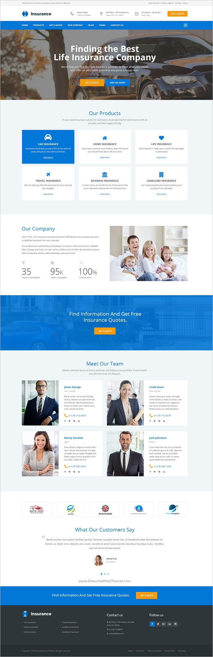 Pin By Peter Gal On Insoiracio Best Website Templates Insurance Website Psd Templates
