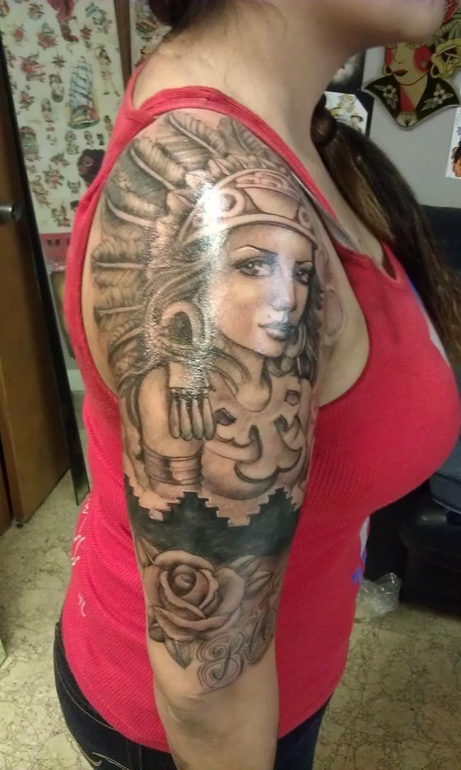Indian Woman Half Sleeve Tattoos Google Search Tattoo Lovee And
