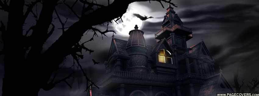 halloween haunted house facebook cover - Halloween Haunted Places