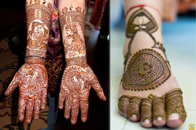 Mehndi Designs For Feet Bridal : Best bridal mehendi design combos for your hands and feet to