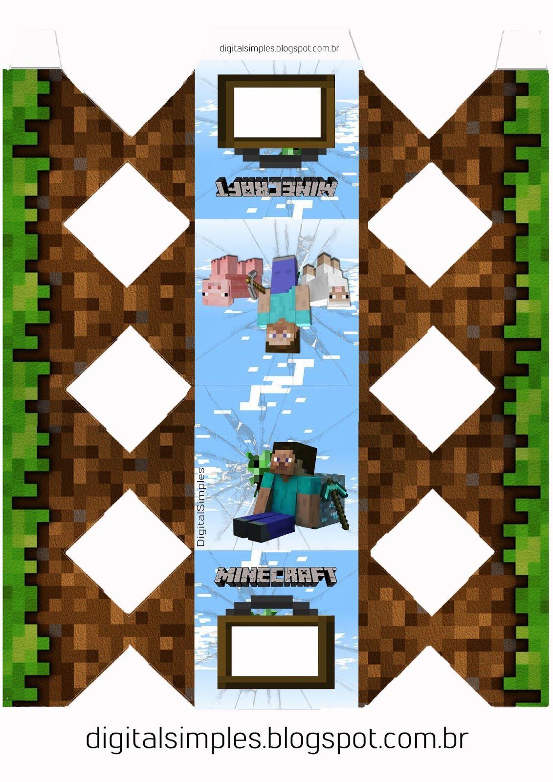 Festa Aniversario Digital Minecraft Para Imprimir Minecraft