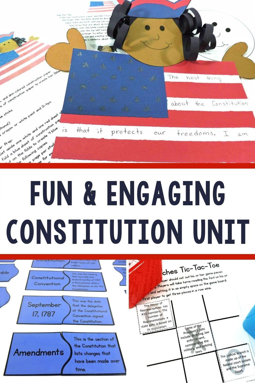 Fun Printable Constitution Unit For Kids Third Grade Activities Social Studies Elementary Classroom Activities [ 1500 x 1000 Pixel ]