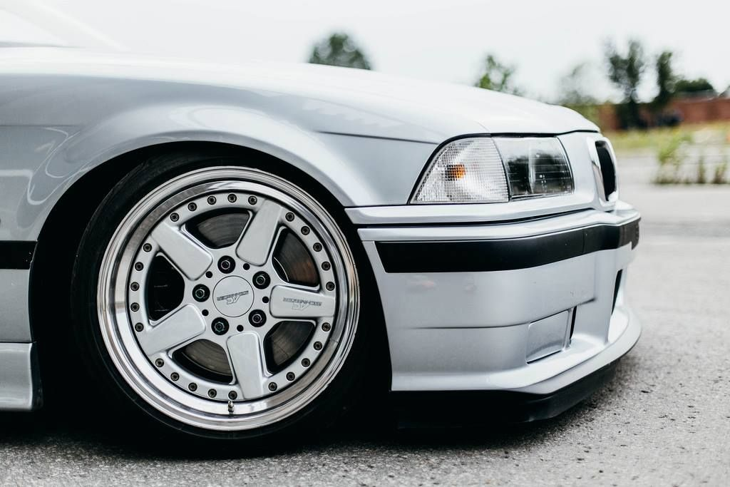 Silver Bmw E36 On Ronal Ac Schnitzer Type 2 Racing Wheels