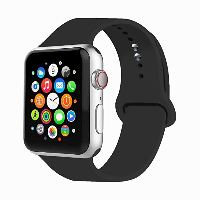 Amazon Com Iyou Sport Band Compatible With Watch Band 38mm 42mm 40mm 44mm Soft Silicone Replacement Sport Strap C In 2020 Soft Silicone Apple Watch Apple Watch Bands