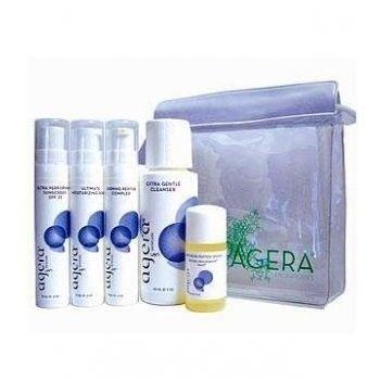 Agera Anti Ageing Mini Kit Congested Skin Mild Cleanser Peptide Serum