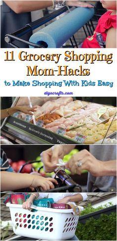 11 Grocery Shopping Mom-Hacks to Make Shopping With Kids Easy #geniusmomtricks