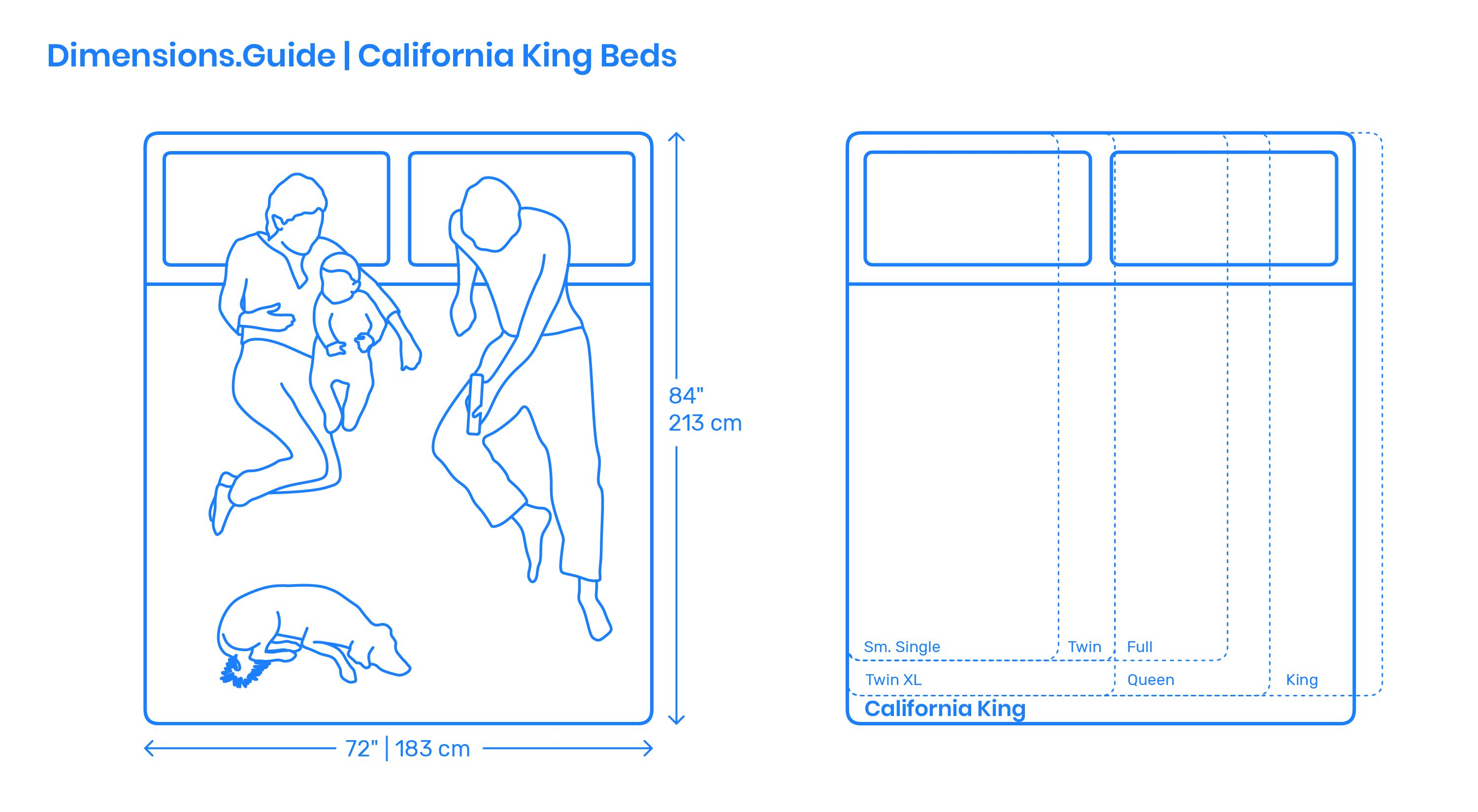 California King beds are variations of King beds designed