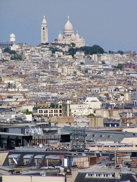Paris' Rooftops ~ Sacre Coeur by Adam Brodowski