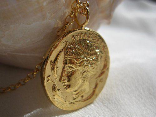 aphrodite coin necklace