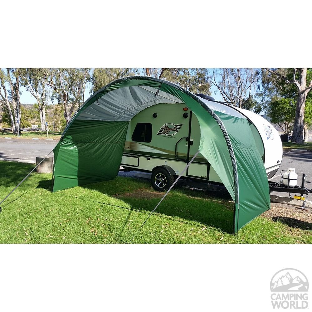 Pahaque R Pod Trailer Awning Silver Green R Pod Trailer Awning Camping World