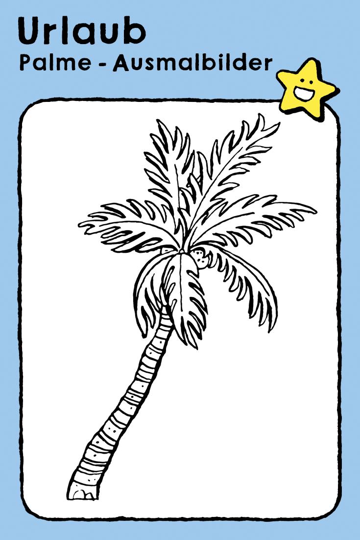 palme  ausmalbilder  ausmalbilder ausmalen bilder