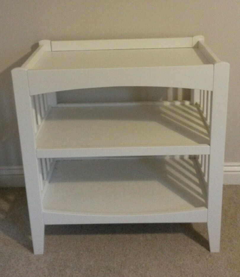 Mothercare Sanctuary White Wood Changing Unit Table Baby