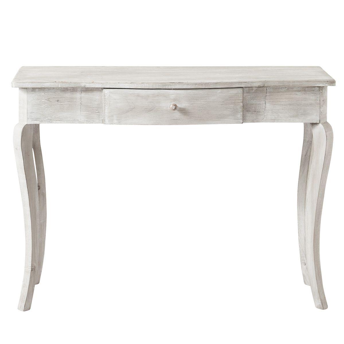 Table console bois gris  Aliette | cabinet syssou | Pinterest ...
