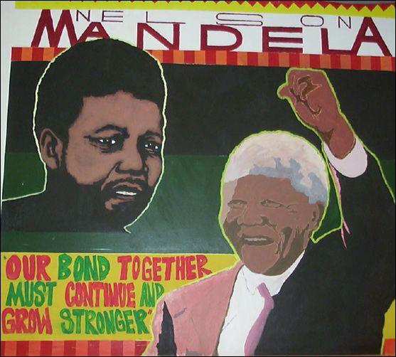 A Mural Of Mandela Image San Francisco Unified Schools District