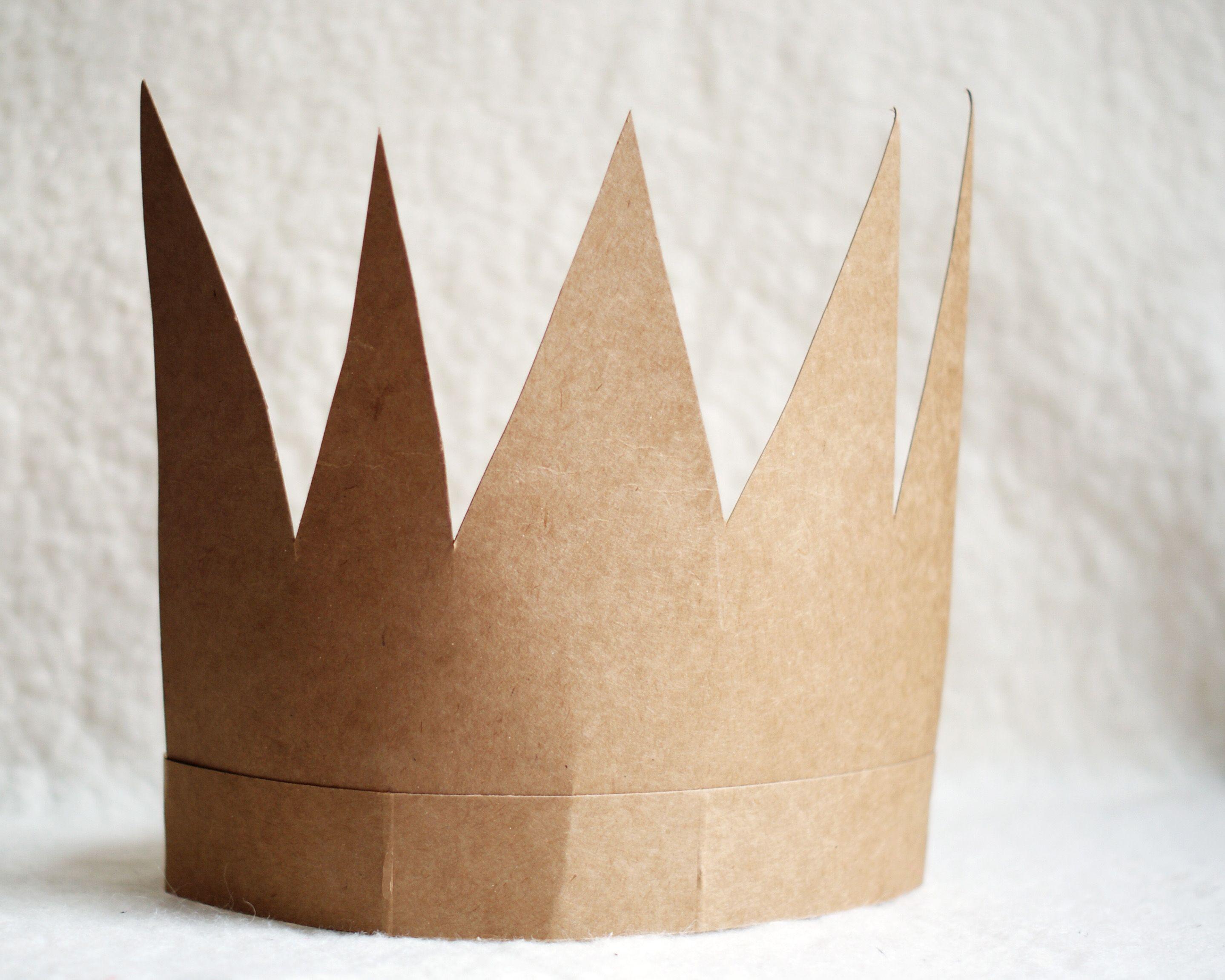 Сделать корону из бумаги фото