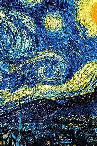Starry Night by Vincent van Gogh iPhone wallpaper