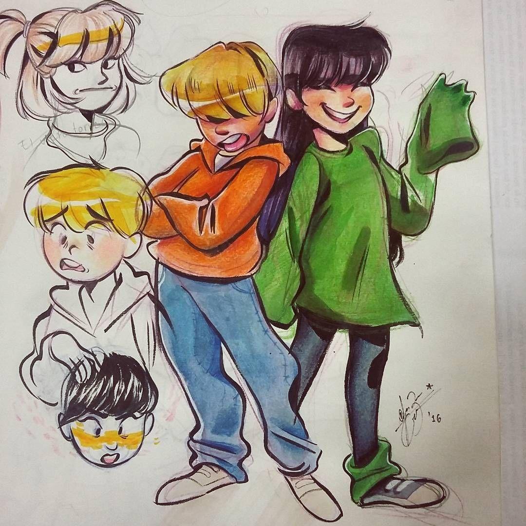 Heyy look at el guero torres and kuki #knd #sketchbook fun fact i ...